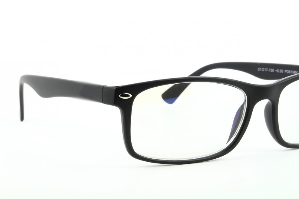 947c572557 Gafas para ordenador - filtro de luz azul - montura negra - BLF83